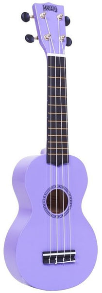New! Mahalo Rainbow Series Ukulele Purple Gold Dolphin Machine Heads w/ Case