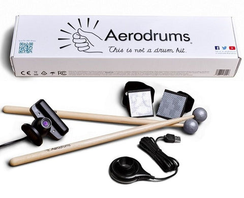 Aerodrums Air Drumming Instrument - Real-Life Drum Sensitivity  MIDI - w/ Camera