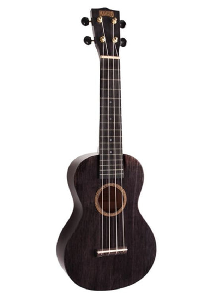 New! Mahalo Hano LH Concert Ukulele Left Handed Trans Black Arched Back