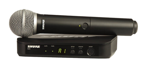 New Shure BLX24/PG58-H10  Handheld Wireless System With PG58 Handheld Microphone