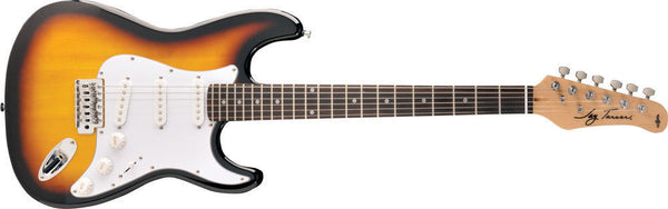 Jay Turser 300 Series Electric Guitar - Tobacco Sunburst - Strat Style