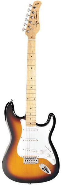 New! Jay Turser 300M Series Electric Guitar - Tobacco Sunburst - Strat Style