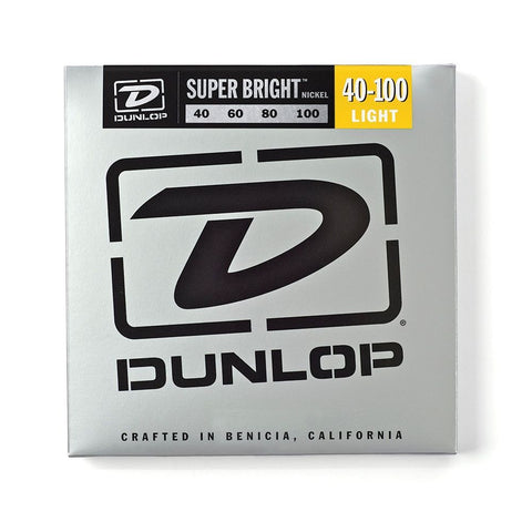 New! Dunlop DBSBS40100 Super Bright Stainless Steel Bass Strings Medium Light
