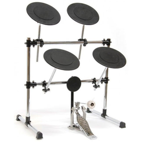 New! TKO PS2D Practice Pad Drum Set - Rack Kit - Bass Drum Pedal - Boom Arms