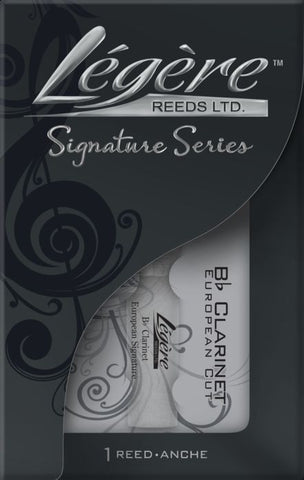 New! Legere Bb Clarinet European Signature Reed - Strength 3.75 - Ships fast!