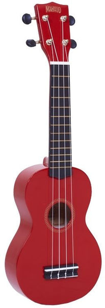 New! Mahalo Rainbow Series Soprano Ukulele Red Includes Carrying Case