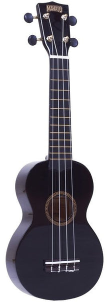 New! Mahalo Rainbow Series Ukulele Black Gold Dolphin Machine Heads w/ Case