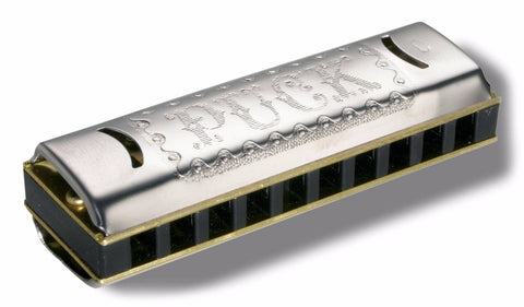 New! HOHNER PUCK DIATONIC 10-HOLE HARMONICA - KEY of C - Perfect Pocket Size