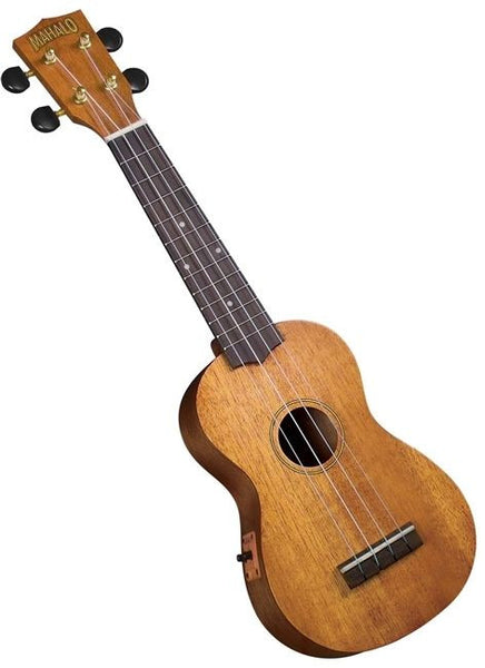 New! Mahalo Mahogany 220E Acoustic Electric Soprano Ukulele with Carry Bag & DVD