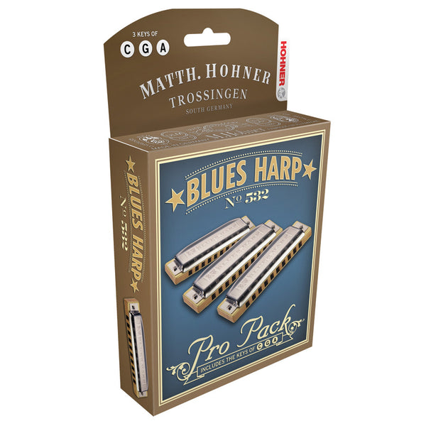 BLUES HARP PRO PACK KEYS OF C G A