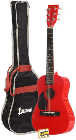Lauren 6 String Acoustic Guitar Pack, Right Handed (LAPKMRD)