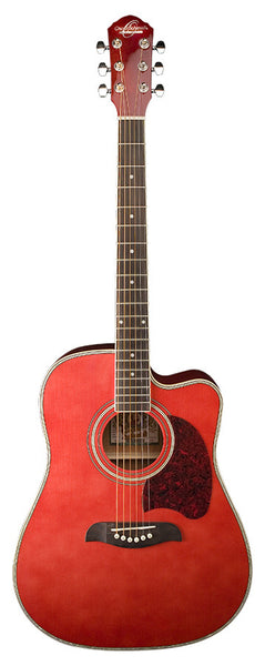 Dreadnought Acous Elec        Trans Red