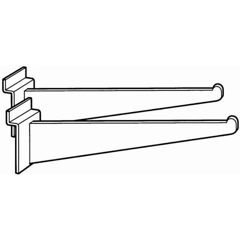 "(Pr)SHELF BRACKET 12"" BLK PAIR - Extra Musical"