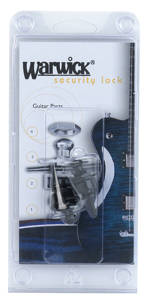 Warwick Schaller Type         Strap Locks - Black