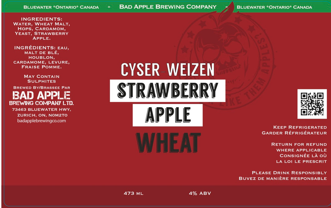 Strawberry Apple Cyser-Weizen
