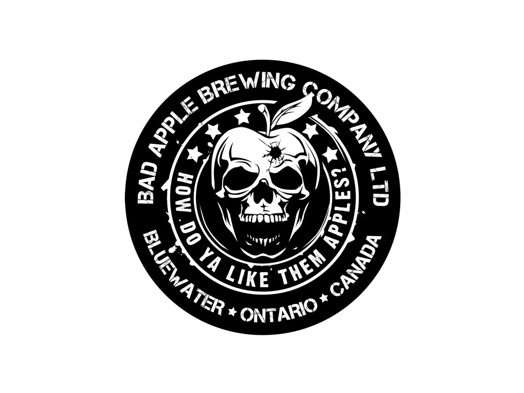 Bad Apple Brewing logo sticker