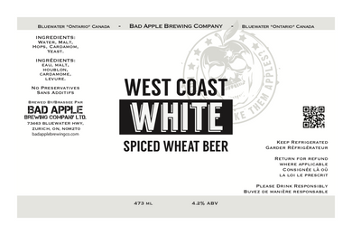 West Coast White beer label