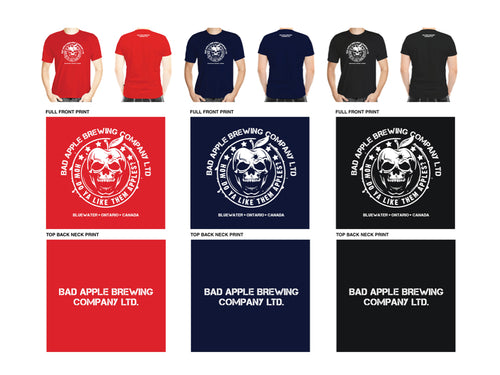 Men's t-shirt with Bad Apple logo