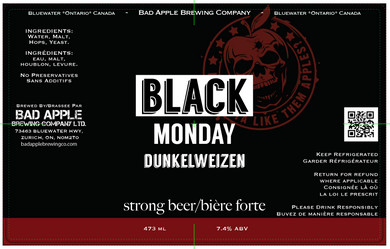 Black Monday Dunkelweizen label