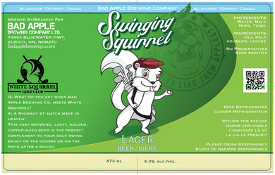 Swing Squirrel Lager label