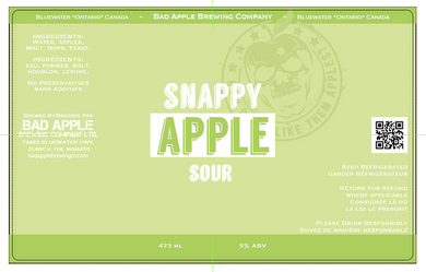 Apple sour graf beer label