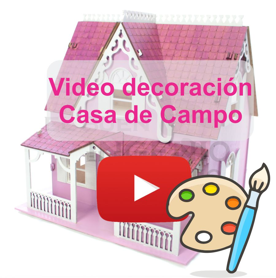 Video decoración casa de muñecas