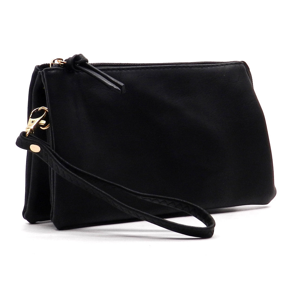 Brandy-Black Fashion Clutch/Wristlet