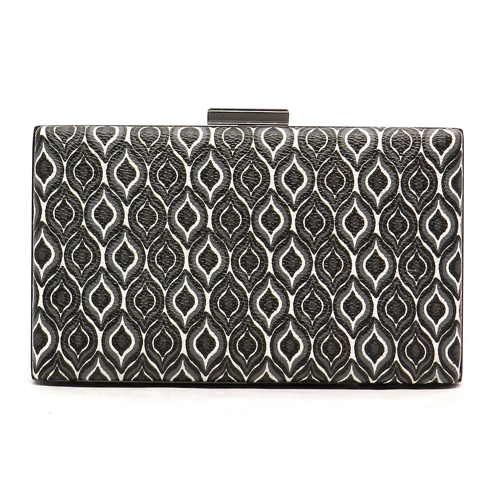 Farrah- printed pattern clutch