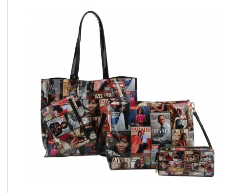 4 in 1 Michelle Obama Shopper Tote Bag