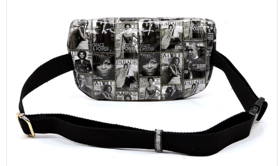 Michelle Obama Black and White Fanny Pack (Waist Bag)