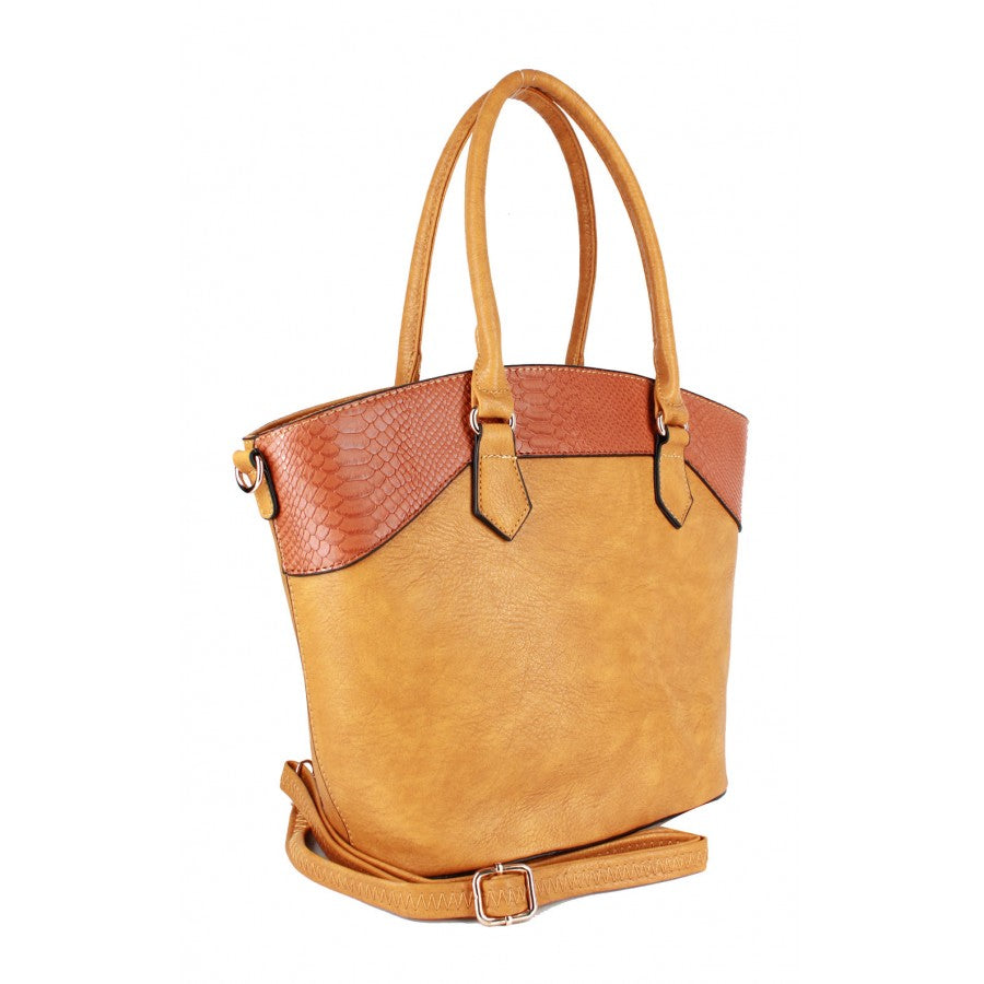 Danielle (Mustard color large tote handbag)