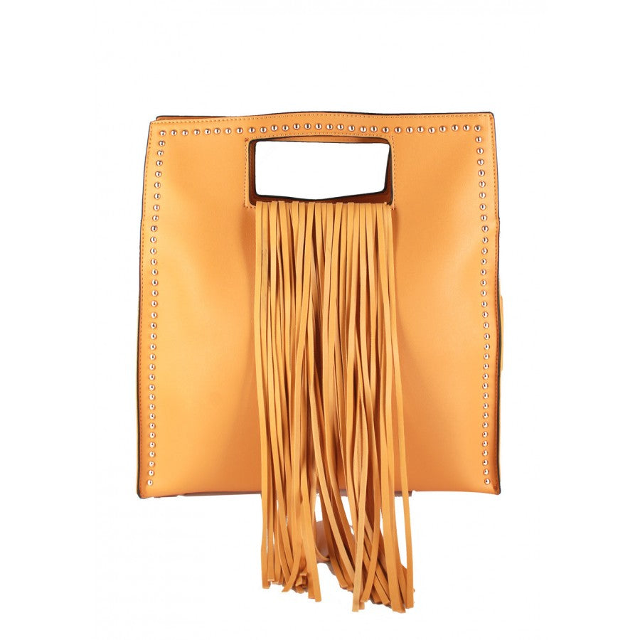 Morgan (Mustard color handbag with fringes)