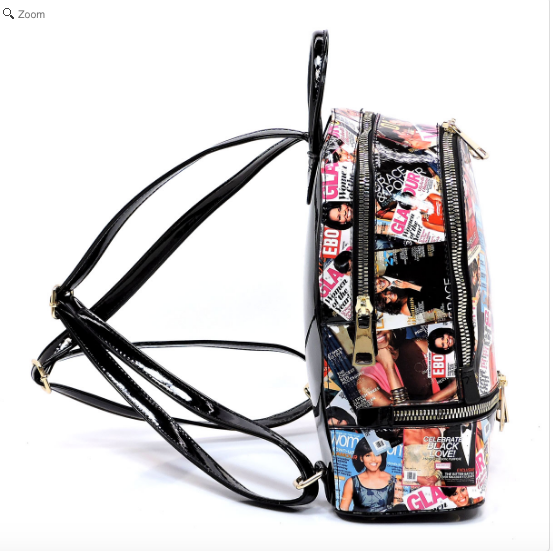 Michelle Obama Magazine Cover Collage Backpack