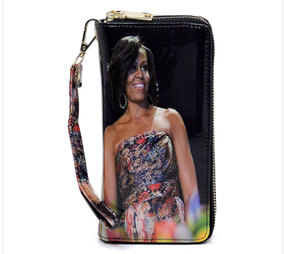 Michelle Obama Magazine Cover Zip Around Wallet