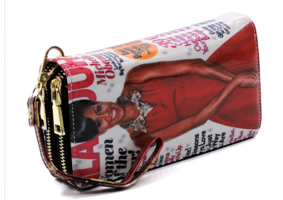 Michelle Obama Magazine Cover Zip Around Wallet (Glamour Magazine)