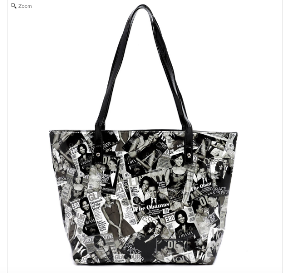 Michelle Obama Magazine Cover Collage Tote bag in Black and White