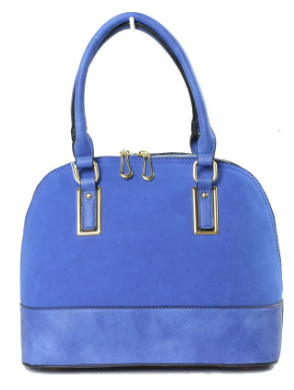 Tia-Medium size blue tote bag