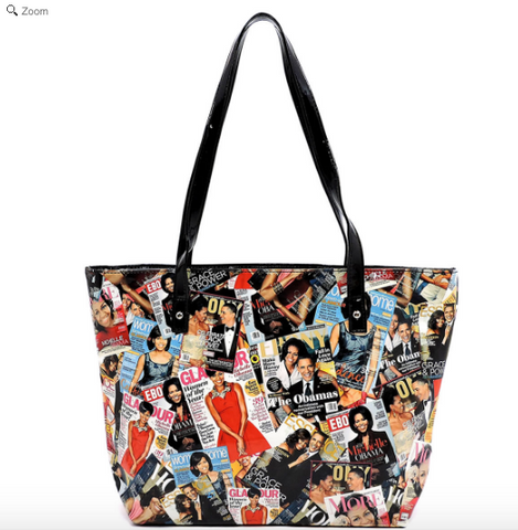 Michelle Obama Magazine Cover Collage Tote bag in Color