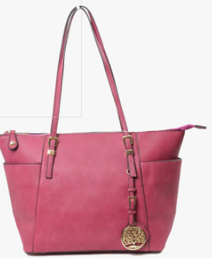 Lisa-Large dark pink tote bag