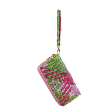 Pink and Green Wallet/Wristlet