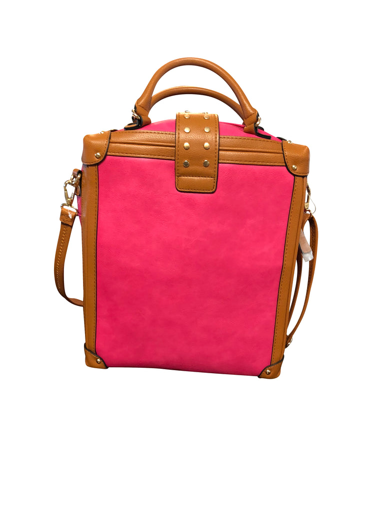 Paris (Dark Pink and Brown Business/Work Bag)