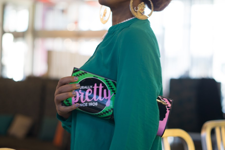 Naturally Pretty since 1908 (Pink and Green Clutch)
