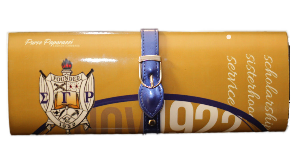 Rho-Custom Magazine Clutch for Sigma Gamma Rho Sorority Incorporated