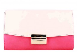 Porsha (Pink and white 2-tone fashion clutch)
