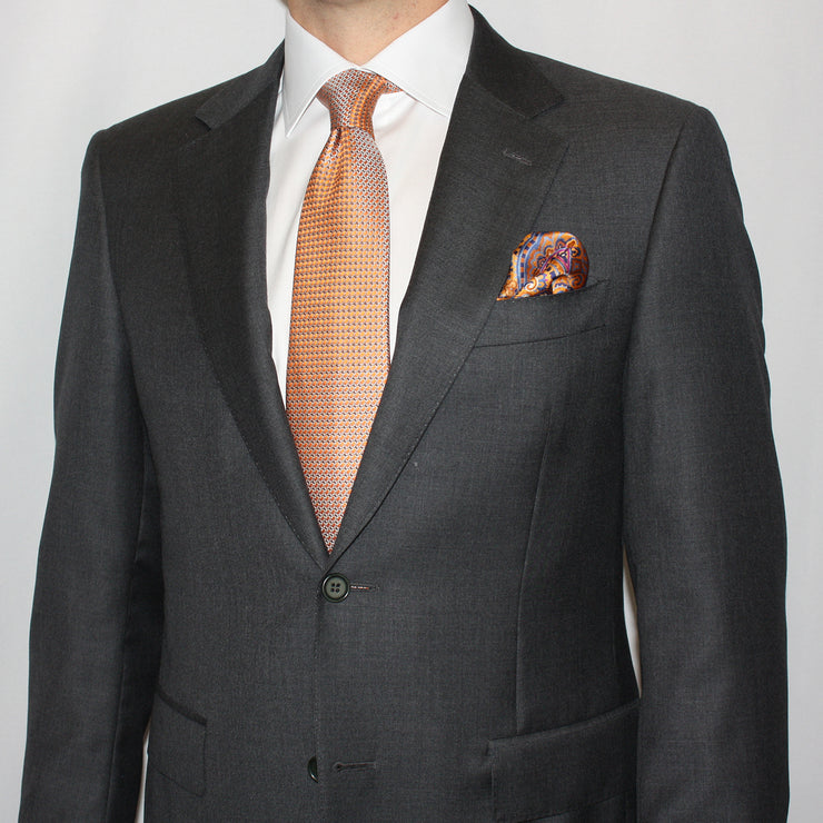 Charcoal Gray Wool Suit