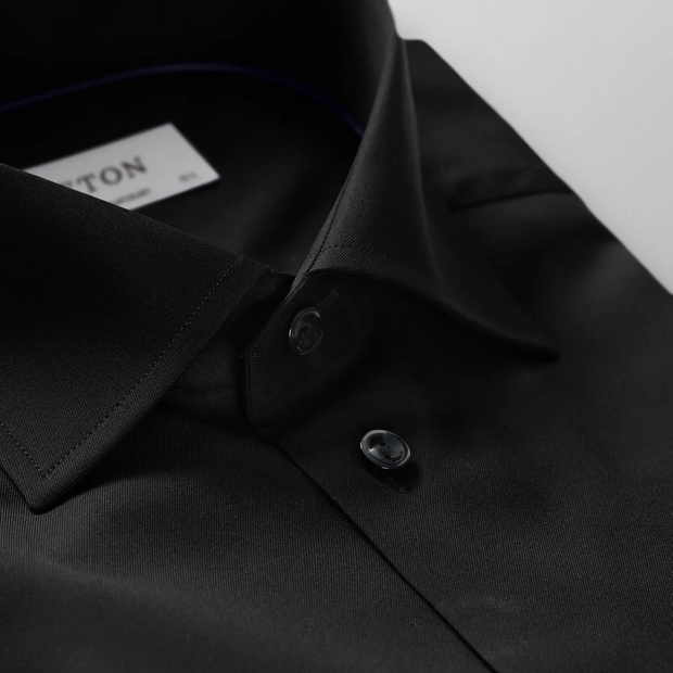 Black Signature Twill Shirt