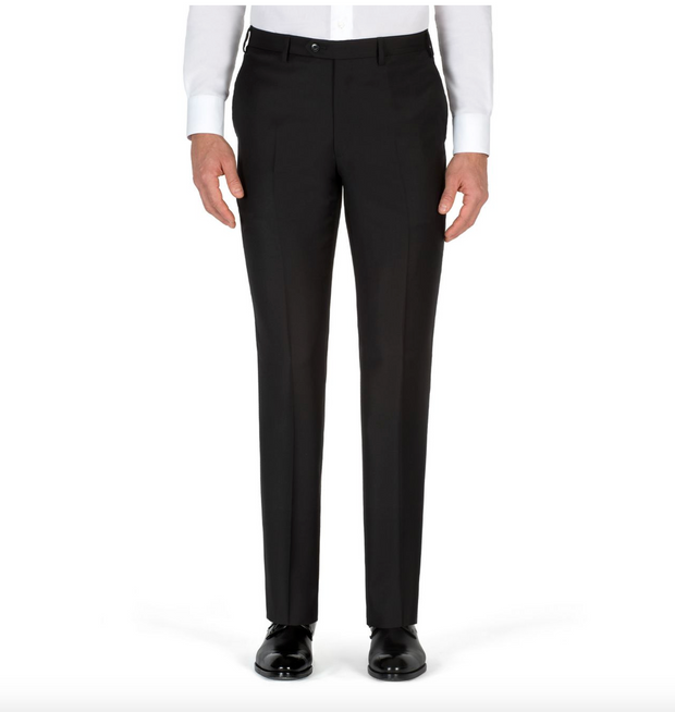 'ESSENTIAL' BLACK TIGULLIO TROUSERS
