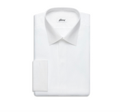 WHITE EVENING SHIRT WITH PLASTRON