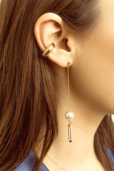 Talia Pearl Pendant Drop Earrings