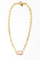 Candy Stripe Gold Link Necklace
